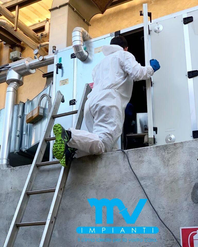 Sanificazione dei condotti dell'aria